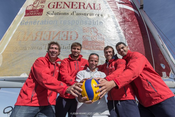 Avec l'Equipe de France de Volley-Ball